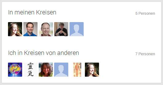 Die ReikiCon und ihre Kreise bei Google+
