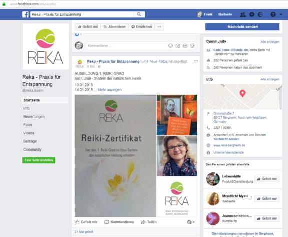 Die Reiki Convention Postkarte als Teil einer Werbung für Reiki Kurse einer Anbieterin. Schriftzug abgeschnitten, kommerzielle Nutzung ohne Erlaubnis oder Nachfrage.